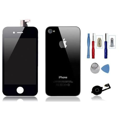 Kit transformation iphone 4 noir ecran vitre arri re for Ecran photo iphone noir