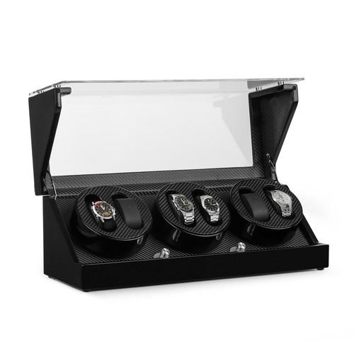 Klarstein Ca3pm Remontoir Automatique Pour 6 Montres 4 Programmes   Coffret  Luxe Optique Carbone