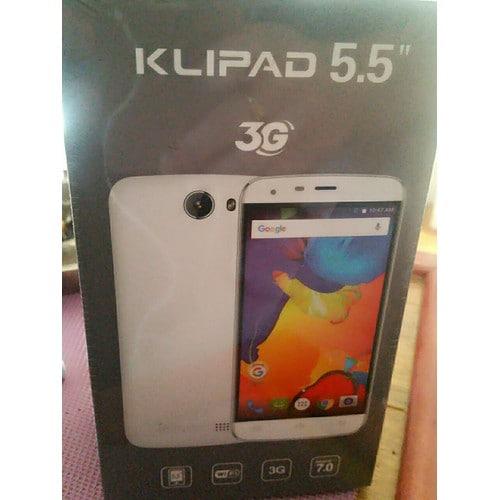 klipad v355b 8 go smartphone 5 5 3g android 7 0 blanc pas. Black Bedroom Furniture Sets. Home Design Ideas