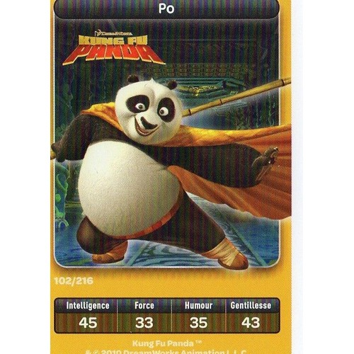 kung fu panda po carte jouer n 102 sur 216 neuf et. Black Bedroom Furniture Sets. Home Design Ideas