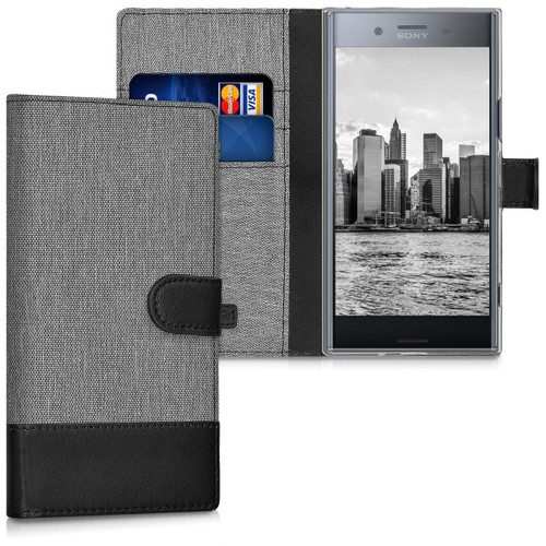 Kwmobile Tui Portefeuille En Cuir Synthtique Pour Sony Xperia Xz Premium