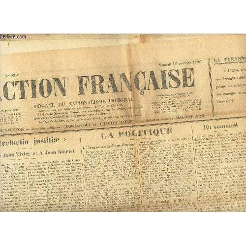 l 39 action francaise lot de 31 journaux du 1er au 31 octobre 1926 vendus en l 39 etat de. Black Bedroom Furniture Sets. Home Design Ideas