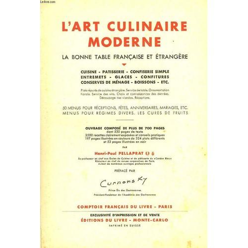 L 39 art culinaire moderne la bonne table fran aise et - L art de la cuisine francaise ...