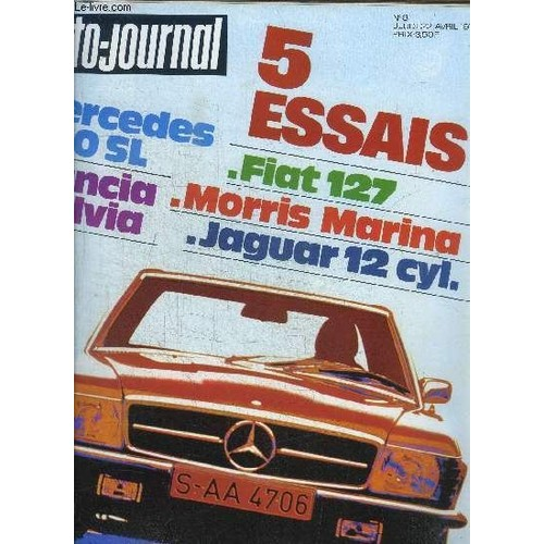 l 39 auto journal n 8 1971 sommaire essais auto lancia fulvia 1600 hf caravane 375 tc. Black Bedroom Furniture Sets. Home Design Ideas
