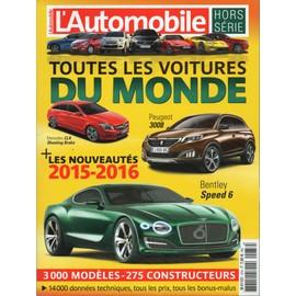 l 39 automobile magazine hors s rie 37h toutes les voitures du monde 2015 2016 n 37. Black Bedroom Furniture Sets. Home Design Ideas