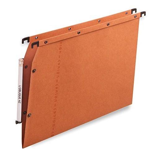 l 39 oblique az bo te de 25 dossiers suspendus azv pour armoire fond v kraft orange. Black Bedroom Furniture Sets. Home Design Ideas