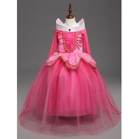 c4c7a4e9278 La Belle Au Bois Dormant Robe Fille Princesse Aurore Déguisement Costume  3-9 Ans