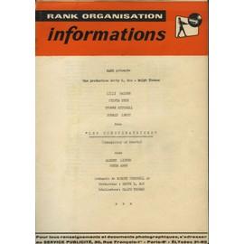 La Conspiration - Les Conspiratrices, Dossier De Presse, Ralph Thomas Avec Lilli Palmer, Sylvia Syms