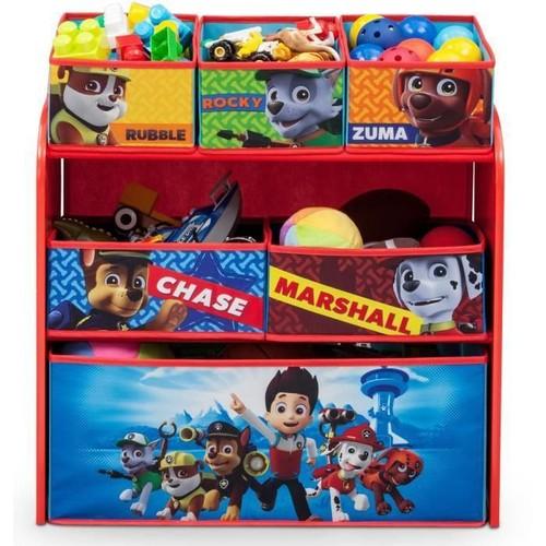 la pat patrouille meuble de rangement enfant jouets 6 bacs pas cher. Black Bedroom Furniture Sets. Home Design Ideas