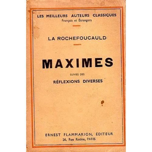 LES MAXIMES DE LA ROCHEFOUCAULD EPUB DOWNLOAD
