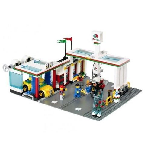 lego city la station service neuf et d 39 occasion sur priceminister. Black Bedroom Furniture Sets. Home Design Ideas