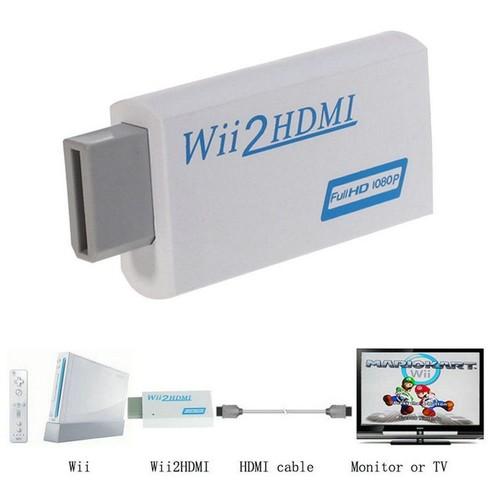 convertisseur pour la wii hdmi wii2hdmi adaptateur full hd 1080p sortie upscaling audio. Black Bedroom Furniture Sets. Home Design Ideas