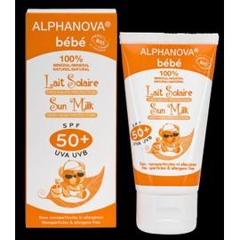 Lait Solaire Bébé Bio Spf 50 Alphanova Bébé, Puériculture Toilette, Bain