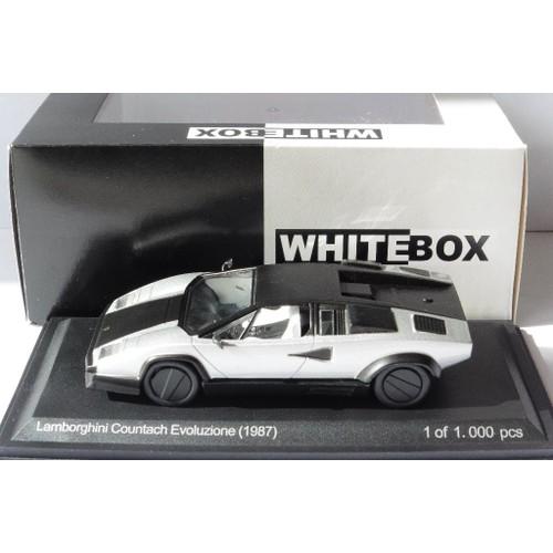 Lamborghini Countach Evoluzione Black Silver 1987 Whitebox Wb512 1