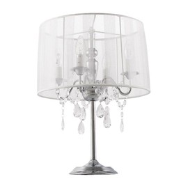 lampe de chevet 39 klassik 39 blanche chandelier baroque. Black Bedroom Furniture Sets. Home Design Ideas