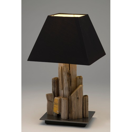 lampe en bois flott socle acier achat et vente rakuten. Black Bedroom Furniture Sets. Home Design Ideas