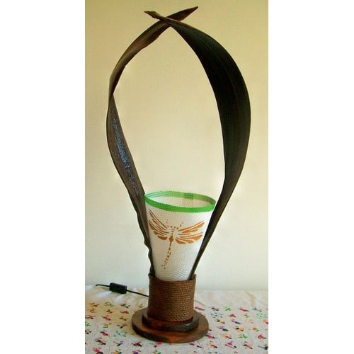 Lampes artisanales en bois de coco achat et vente for Lampe en bois artisanale