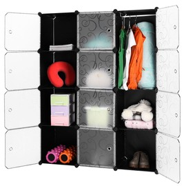 langria 12 cube rangement tag re placard armoire penderie. Black Bedroom Furniture Sets. Home Design Ideas