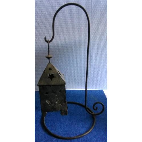 Lanterne bougie d 39 ext rieur en fer forg achat et vente for Lanterne a poser exterieur