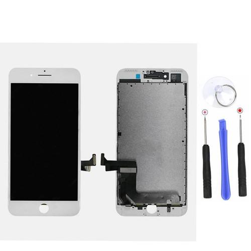 lcd ecran vitre tactile affichage pour apple iphone 7 plus couleur en blanc 4pcs outils. Black Bedroom Furniture Sets. Home Design Ideas