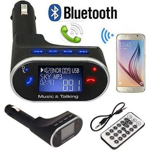 lcd voiture kit bluetooth lecteur mp3 sd mmc usb fm transmetteur fm. Black Bedroom Furniture Sets. Home Design Ideas