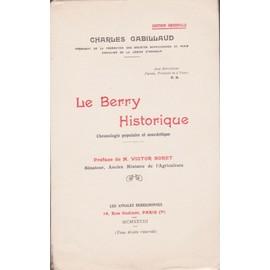 Le Berry Historique de Charles Gabillaud