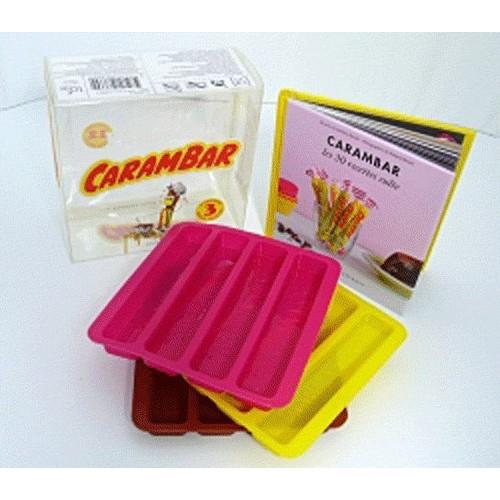 Le Kit Patisserie Carambar , 1 Livre Et 3 Moules En Silicone de Garlone  Bardel