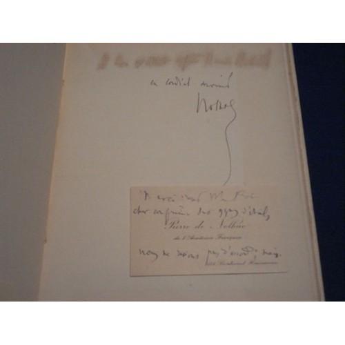 Le Testament Dun Latin Envoi Carte De Visite Manuscrite Pierre Nolhac Format Broche