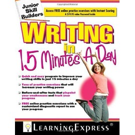 Writing In 15 Minutes A Day [With Free Online Practice Exercises Access Code] de Learning Express LLC