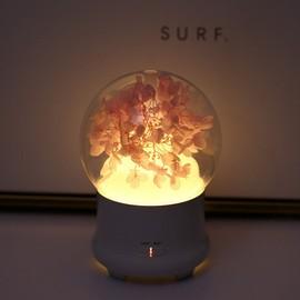 diffuseur d 39 huile essentielle humidificateur d 39 air silencieux avec hortensia fleur ternelle led. Black Bedroom Furniture Sets. Home Design Ideas