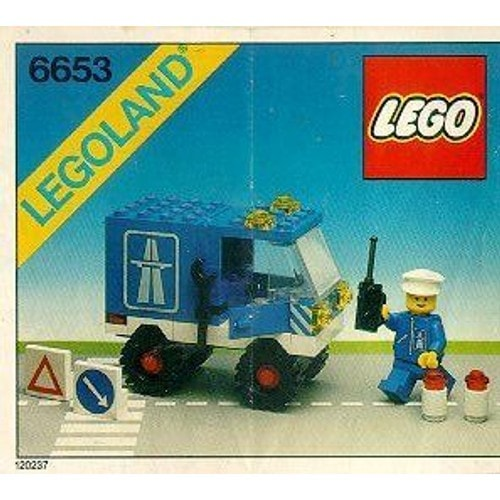 lego 6653 camion de maintenance autoroute neuf et d 39 occasion. Black Bedroom Furniture Sets. Home Design Ideas