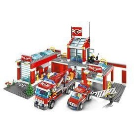 lego city 7945 caserne de pompier complete achat et vente. Black Bedroom Furniture Sets. Home Design Ideas