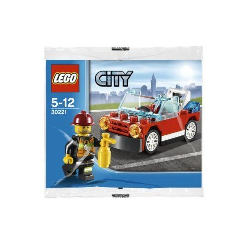 lego city feu voiture jeu de construction 30221 dans un sac. Black Bedroom Furniture Sets. Home Design Ideas