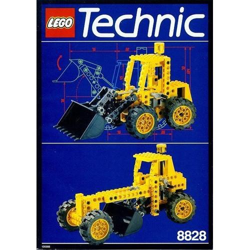 lego technic 8828 pelleteuse jaune 172 pi ces neuf et d 39 occasion. Black Bedroom Furniture Sets. Home Design Ideas