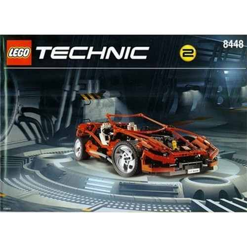 lego technic voiture rouge r f 8448 achat vente de jouet rakuten. Black Bedroom Furniture Sets. Home Design Ideas