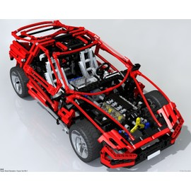 lego technic voiture rouge r f 8448 achat et vente priceminister rakuten. Black Bedroom Furniture Sets. Home Design Ideas