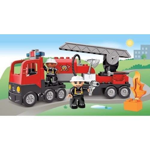 lego duplo 4977 le camion des pompiers achat et vente. Black Bedroom Furniture Sets. Home Design Ideas