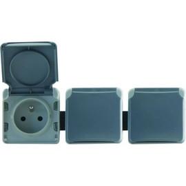 legrand lot de 3 prises de courant 16a composables pas cher. Black Bedroom Furniture Sets. Home Design Ideas