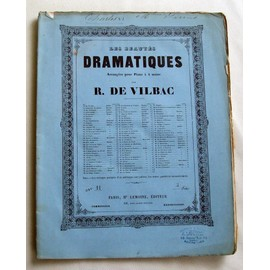 Petite annonce Les Beautes Dramatiques-R. De Vilbac-N°11 Novembre 1863-Charles Vi- - 34000 MONTPELLIER