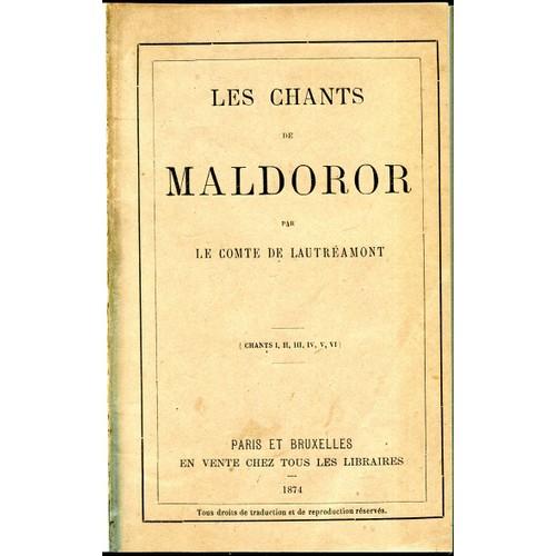 Chants Edition Isidore Lautréamont Maldoror 1874 Originale Les de De aqngSwtFxd