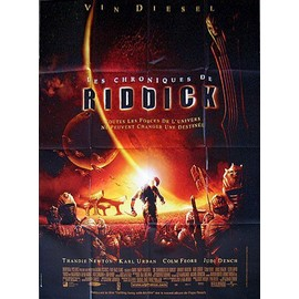 Les Chroniques De Riddick : Affiche Originale Grand Format 120x160 Cm