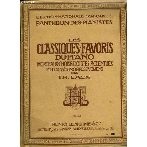 Les classiques favoris du piano 1 volume a melodie bernoise sonatine - Les classiques du design ...