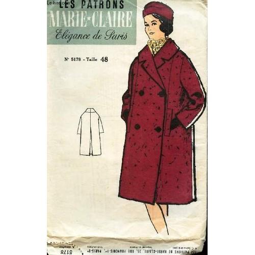 c9542507be les-patrons-marie-claire-elegance-de-paris-n5178-manteau-taille -48-de-collectif-1017708602_L.jpg