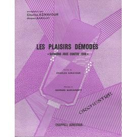 """Petite annonce Les Plaisirs Démodés """"Dansons Joue Contre Joue"""" - Orchestre- (Enregistré Par Charles Aznavour) - charles aznavour - 86000 POITIERS"""