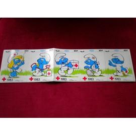 les schtroumpfs autocollants croix rouge 1983 stickers smurf vignettes panini. Black Bedroom Furniture Sets. Home Design Ideas