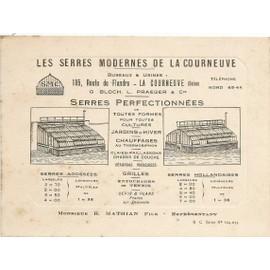 Les Serres Modernes De La Courneuve Carte Visite Illustree Mathian Representant