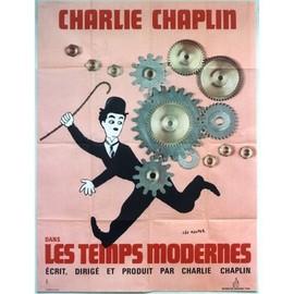 Les temps modernes modern times charles chaplin 1936 affiche de cinema ancienne des - Dessin annee 60 ...