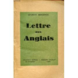 Lettre Aux Anglais de GEORGES BERNANOS