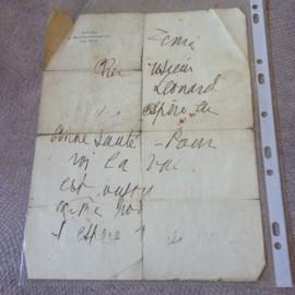 Lettre Manuscrite D'arletty