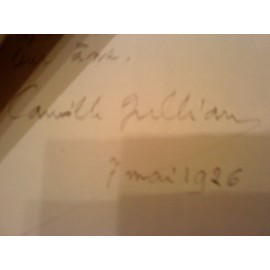 Lettre Manuscrite Et Carte De Visite Camille Jullian Favoris Alerte Prix Partage